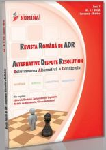 Revista Romana de ADR (Alternative Dispute Resolution) nr. 1/2012