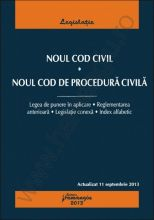 Noul Cod civil. Noul Cod de procedura civila | Actualizare: 11 septembrie 2013
